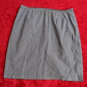 Casual Corner Annex Woman Gingham Skirt